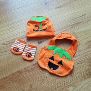 Other - Baby's first Halloween hat bib and socks